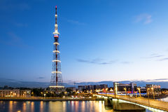 La torre de la TV de la transmisión Cente de Leningrad Radiotelevision Fotos de archivo