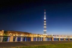 La torre de la TV de la transmisión Cente de Leningrad Radiotelevision Fotografía de archivo