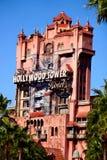 La torre de la zona crepuscular del terror en los estudios de Hollywood de Disney Foto de archivo libre de regalías