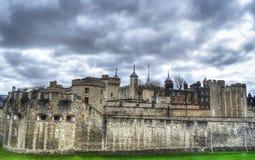 La torre de Londres en hdr Fotografía de archivo libre de regalías