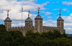 La torre de Londres - parte de los palacios reales históricos, conteniendo las joyas de la corona fotografía de archivo libre de regalías