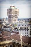 La torre de Milan Velasca Imagen de archivo libre de regalías