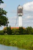 La torre de radio de la televisión se derrumbó Fotografía de archivo