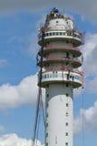 La torre de radio de la televisión se derrumbó Fotografía de archivo libre de regalías