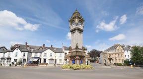 La torre de reloj Fotos de archivo libres de regalías