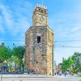 La torre de reloj de Antalya Imágenes de archivo libres de regalías