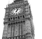 La torre de reloj de Big Ben Londres aisló Foto de archivo libre de regalías