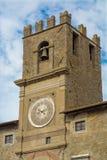 La torre de reloj de Cortona Imagenes de archivo