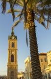 La torre de reloj de Jaffa Foto de archivo libre de regalías