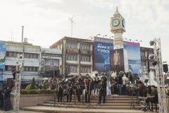 La torre de reloj de Phitsanulok la ceremonia para conmemorar al rey Fotos de archivo libres de regalías