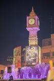 La torre de reloj de Phitsanulok la ceremonia para conmemorar al rey Fotografía de archivo