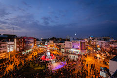 La torre de reloj de Phitsanulok la ceremonia para conmemorar al rey Fotos de archivo