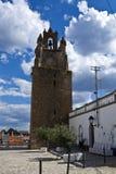 La torre de reloj de Serpa, Portugal Fotos de archivo libres de regalías