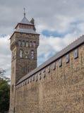 La torre de reloj del castillo de Cardiff, País de Gales Fotos de archivo libres de regalías