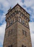La torre de reloj del castillo de Cardiff, País de Gales Imagen de archivo libre de regalías