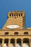 La torre de reloj del Palazzo Vecchio en Florencia Fotografía de archivo