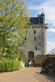 La torre de reloj Fortaleza Chinon francia Foto de archivo