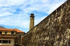 La torre de reloj, fuerte de Galle Foto de archivo libre de regalías