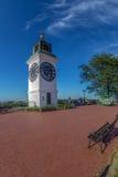 La torre de reloj, una de señales del comandante del ` s de Novi Sad fotografía de archivo