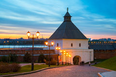 La torre de Taynitskaya del Kazán el Kremlin Foto de archivo libre de regalías