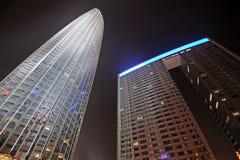 La torre de Tianjin en la noche Imagen de archivo libre de regalías