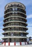 La torre de Woden que se inclina, Teluk Intan, Malasia Imagenes de archivo