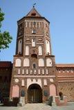 La torre del castello del MIR, Bielorussia Fotografia Stock Libera da Diritti