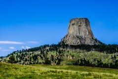 La torre del diablo asombroso, Wyoming, los E.E.U.U. Imagenes de archivo
