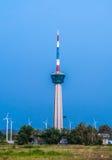 La torre del faro a Laemchabangport, Tailandia Fotografia Stock Libera da Diritti