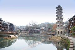 La torre del fiume Fotografie Stock
