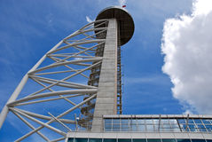 La torre del Gama de Vasco DA en naciones estaciona, Lisboa. Foto de archivo libre de regalías