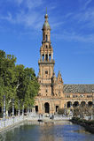La plaza de Espana (quadrato) della Spagna, Siviglia, Spagna fotografia stock libera da diritti