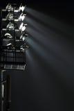 La torre del proyector del estadio Fotografía de archivo libre de regalías