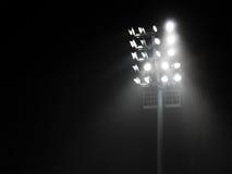 La torre del riflettore dello stadio Immagine Stock Libera da Diritti