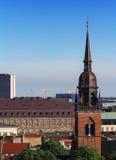 La torre della cattedrale rossa Fotografia Stock
