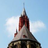 La torre della chiesa di St John a Maastricht Fotografie Stock Libere da Diritti