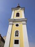 La torre della chiesa francescana, Targu Mures, Romania Fotografie Stock Libere da Diritti
