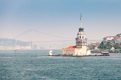 La torre della ragazza (la torre di Leander) Fotografie Stock Libere da Diritti