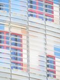 La torre di Agbar ? una torre di 38 piani vicino alla plaza Catalunya frammento fotografie stock libere da diritti