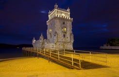 La torre di Belem Lisbona - nel Portogallo Fotografia Stock