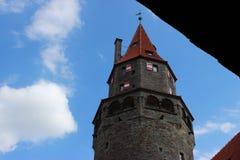 La torre di Bouzov del castello Immagine Stock Libera da Diritti
