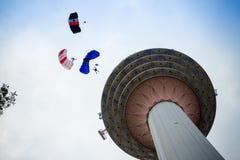 La torre di chilolitro internazionale salta 2016 Fotografie Stock Libere da Diritti
