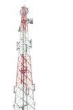 La torre di comunicazione in Tailandia ha isolato su bianco Fotografia Stock