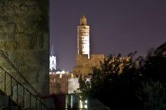 La torre di David, Gerusalemme Fotografia Stock