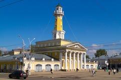 La torre di fuoco nella città di Kostroma Fotografia Stock