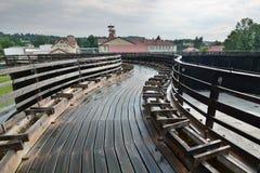 La torre di graduazione Miniera di sale di Wieliczka cracovia poland Fotografia Stock Libera da Diritti