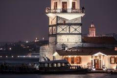 La torre di kulesigalata di galata della VE di kulesi di Kız e il ` nubile s si elevano Fotografie Stock