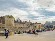 La torre di Londra storica nel Regno Unito Fotografia Stock