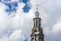 La torre di Munttoren a Amsterdam, Paesi Bassi Fotografia Stock