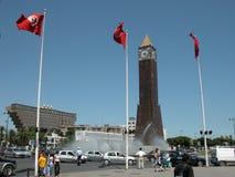 La torre di orologio, centro urbano di Tunisi Immagini Stock